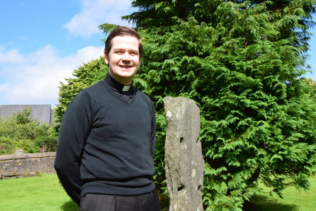 TV cameras follow Lochgilphead's Father Ronald