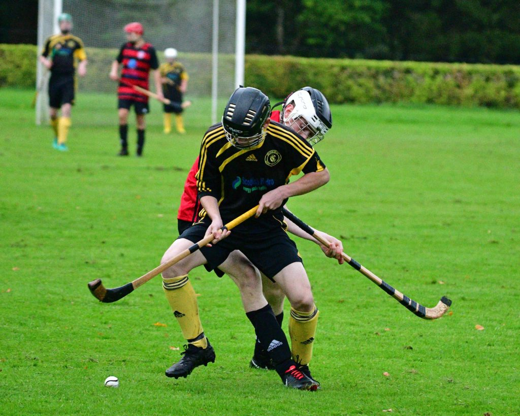 Fast and furious youth shinty at Inveraray
