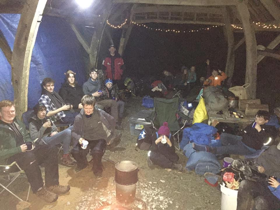 Scouts sleep out for homeless during festive season