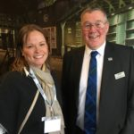 Anna Davies with NFUS president Andrew McCornick