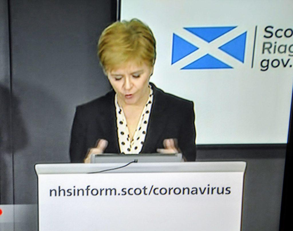 Battling Boris gets goodwill message from Sturgeon