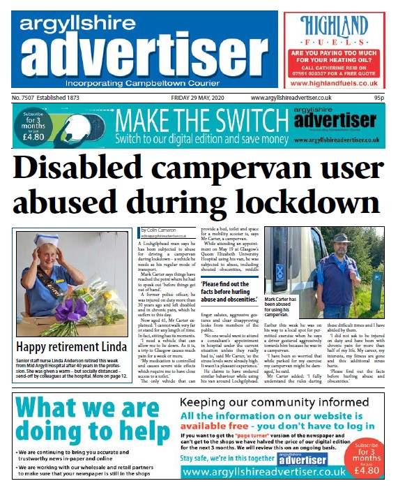 In this week's edition of the Argyllshire Advertiser