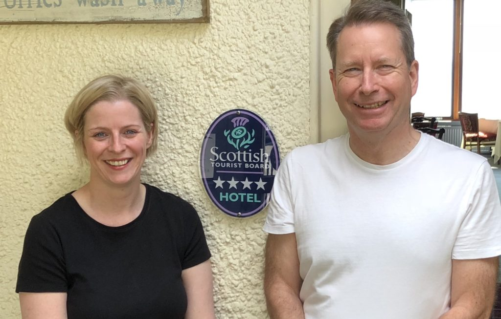 Calum and Rachel Ross are owners of the Loch Melfort Hotel.