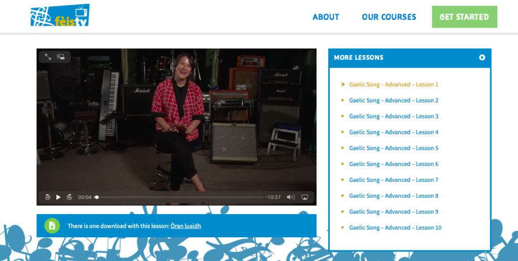 Learn the Oide thing with music and Gaelic lessons