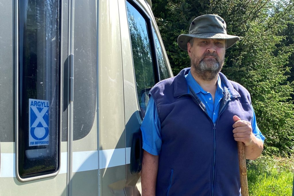 Disabled campervan user abused during lockdown