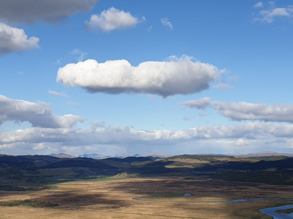 Dunadd and the Moine Mhor from a forestry walk. Photo: Iris Marhencke
