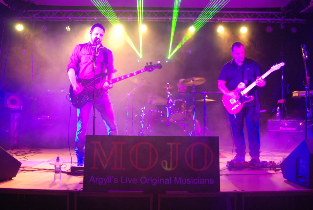 Oban band 4Below performing at the 2019 MOJO festival