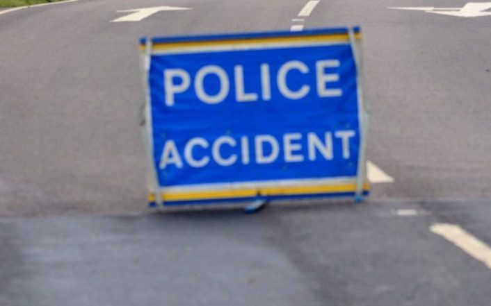 Police are at the A85 near Inverawe after a car overturns.