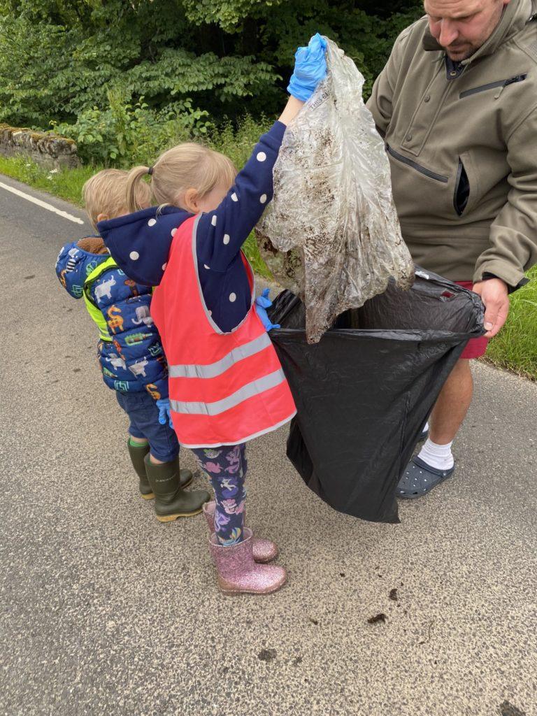 Never mind skint knees, we've got litter to pick