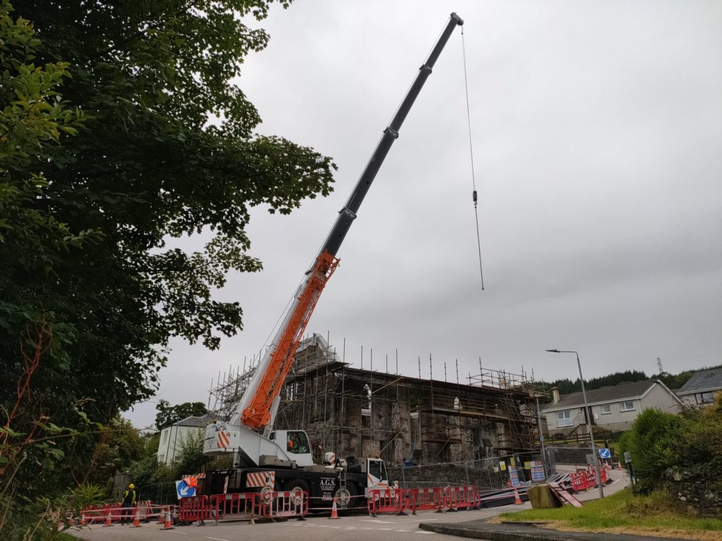 Work begins to rebuild former church destroyed by fire
