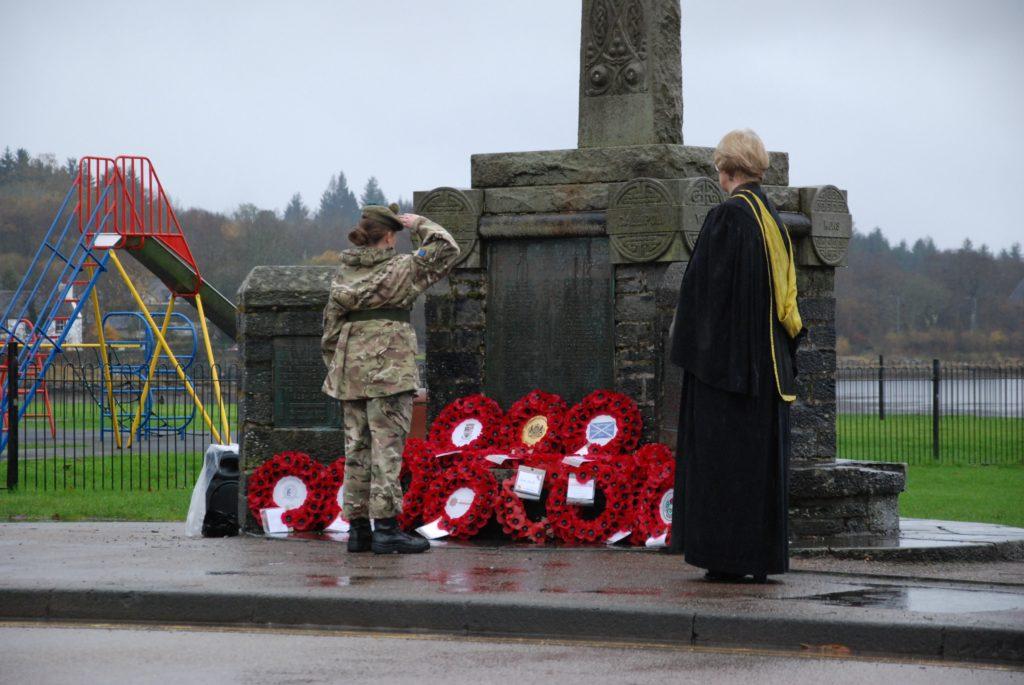 Lochgilphead Remembrance arrangements