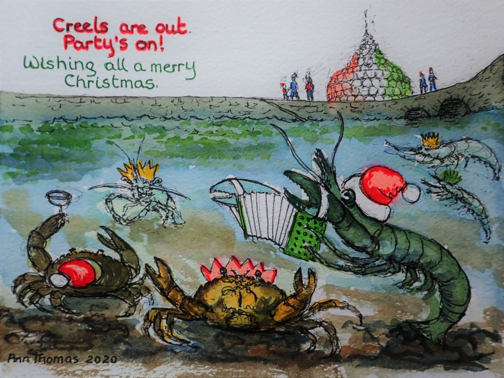 A merry crustacean Christmas
