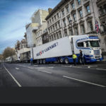 AM Shellfish Ltd, led by Allan Miller, formerly of Tarbert, take their message to London. Photograph: Lee Elliott.