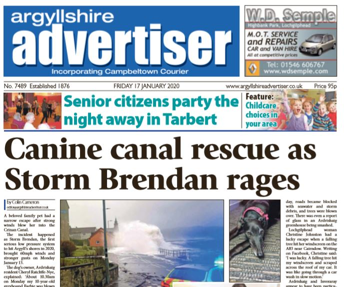 Argyllshire Advertiser PDF Archive 2020