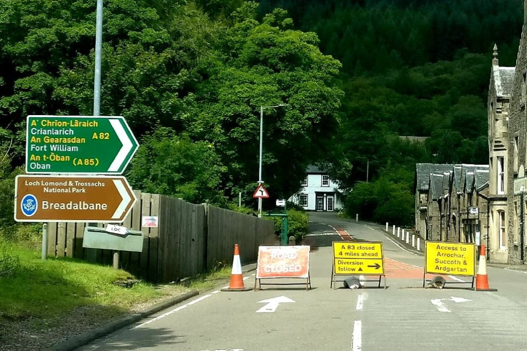 A83 set for overnight closure for manhole repairs