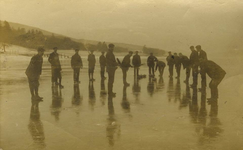 The first time in (then) living memory curling had been managed on this part of the loch. Photo: Here We Are.