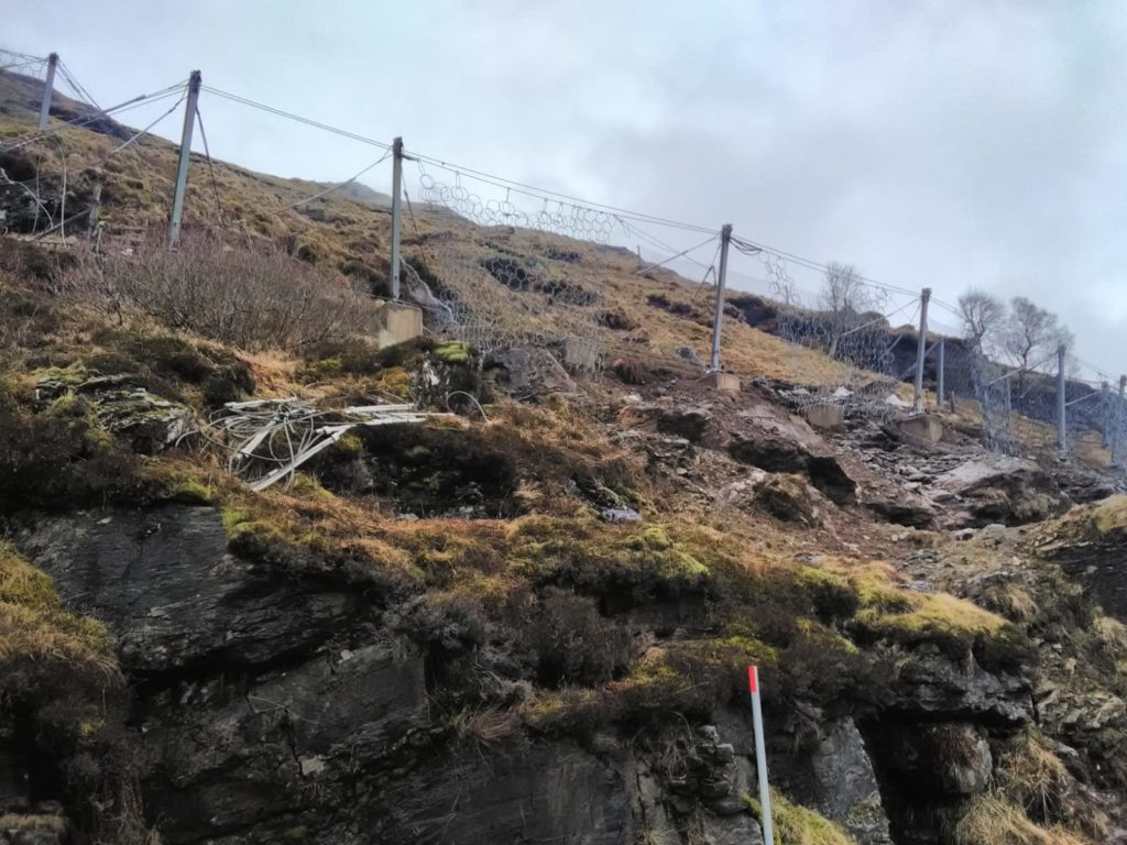 Landslide protection makes progress in weather window