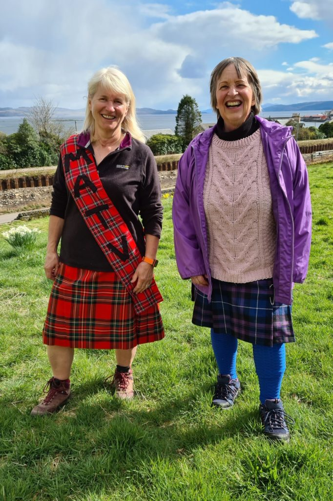 Support our kiltie fundraising heroes