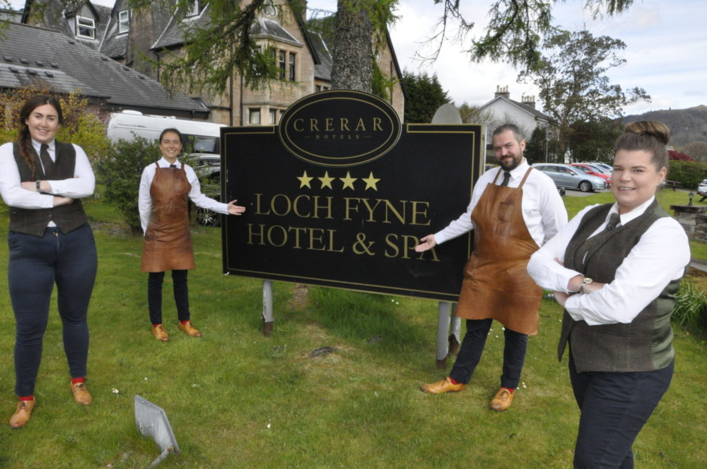 A warm welcome back from Argyll hospitality
