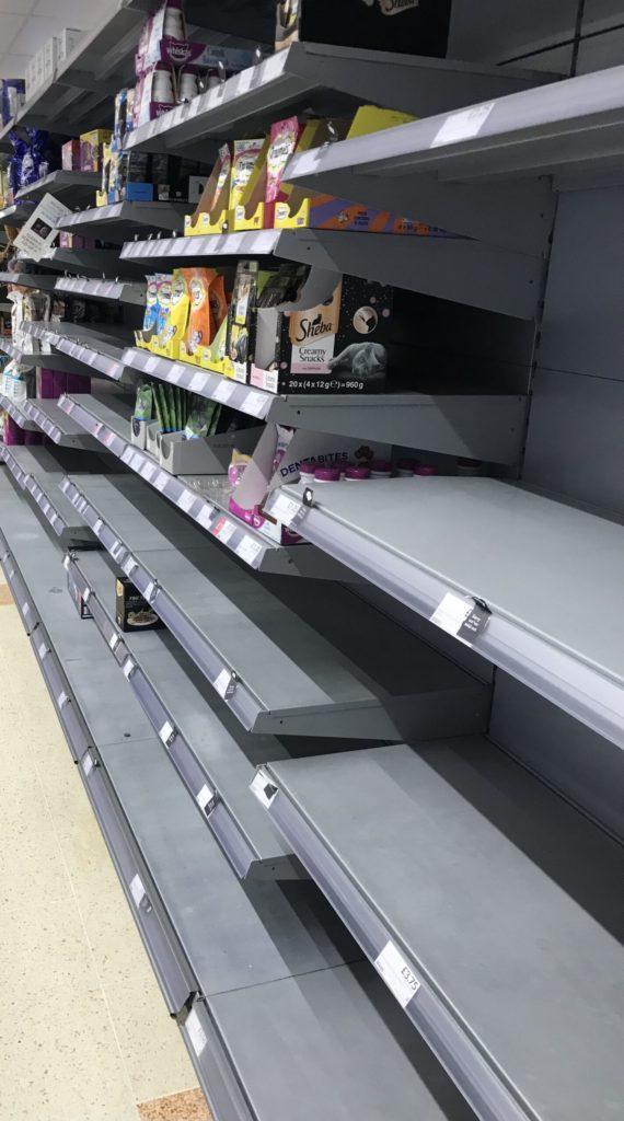 Covid pressure leads to bare supermarket shelves