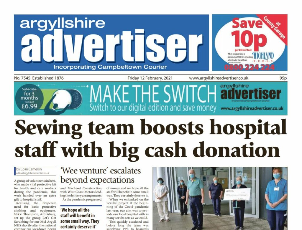 Argyllshire Advertiser PDF Archive 2021
