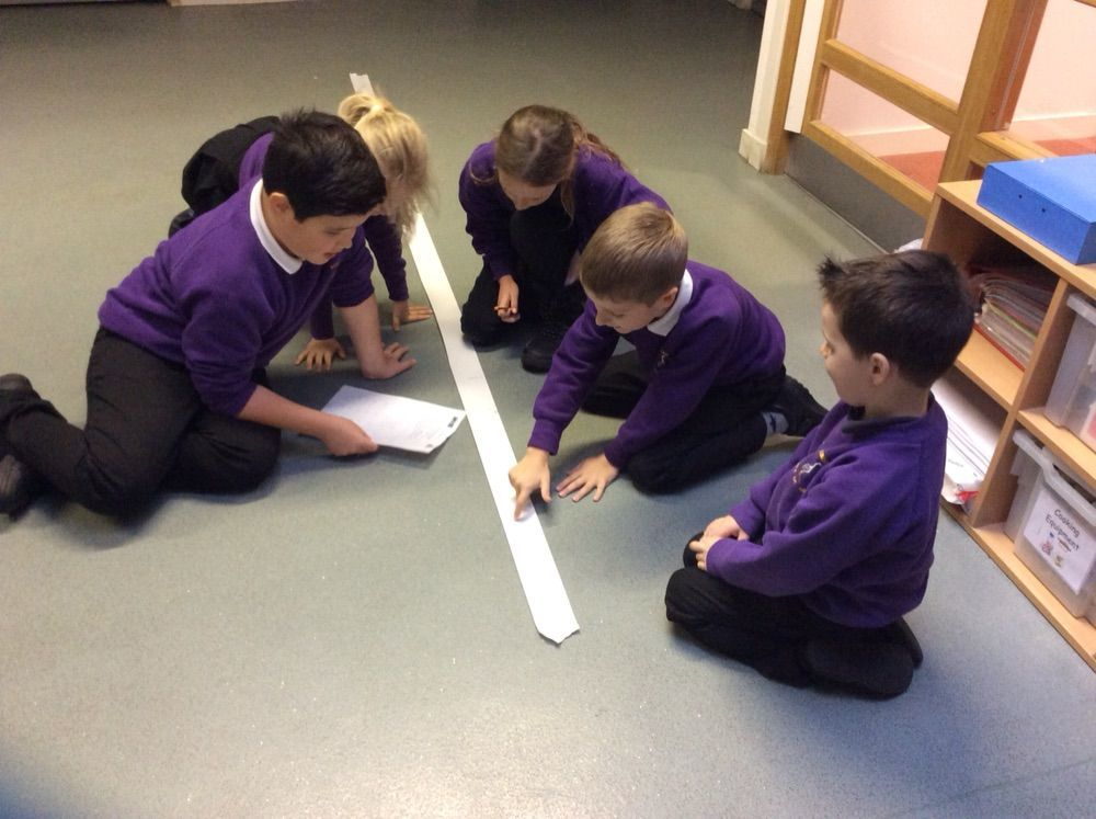 Kilmory pupils take part in an educational exercise