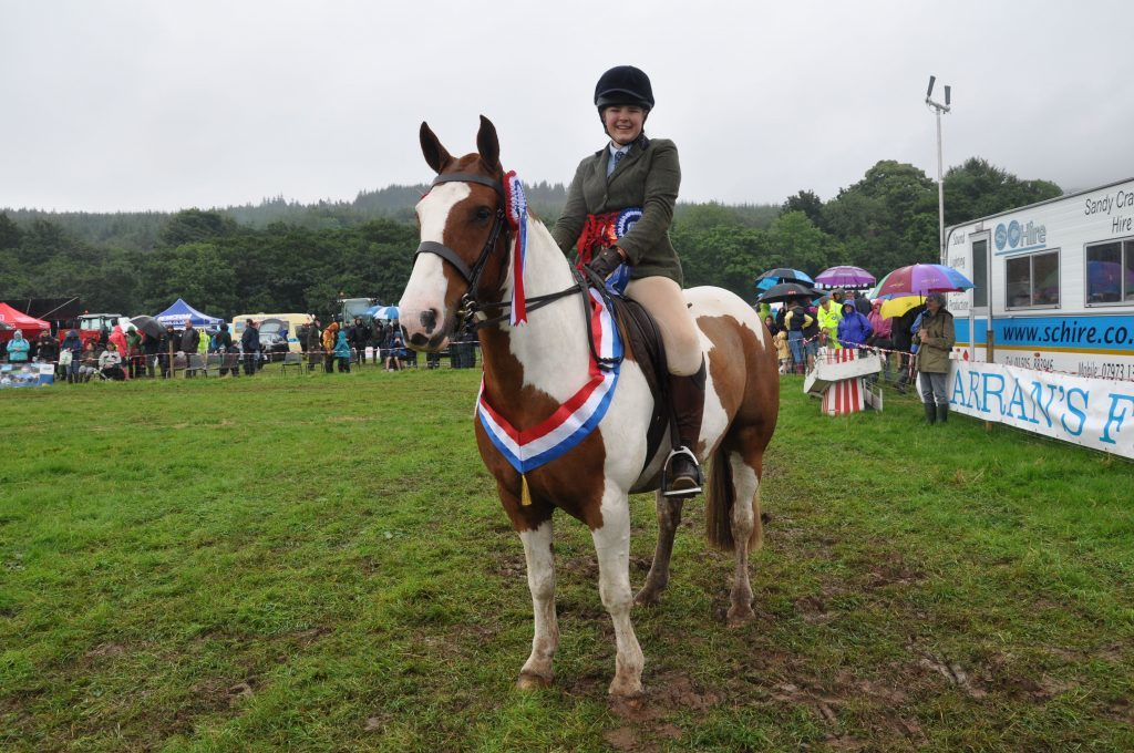 August - Lois Ashley on Kippin was this year named the overhead champion at the 181st Arran Farmers' Society annual show at Glenkiln