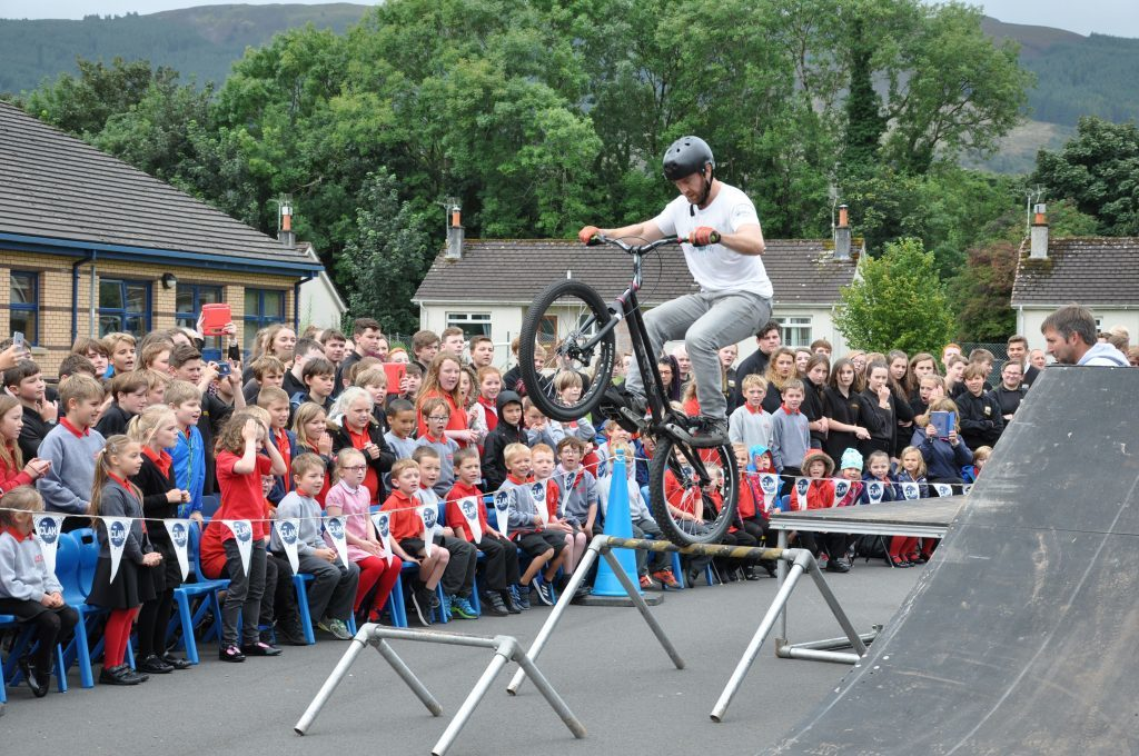 September - Pupils from the Lamlash campus enjoyed a memorable and action-packed show by Scottish stunt cycle team, The Clan
