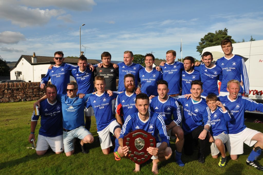 September - Brodick are crowned four-in-a-row league champions after a thrilling play off match against Southend for the Arran Dairies league championship