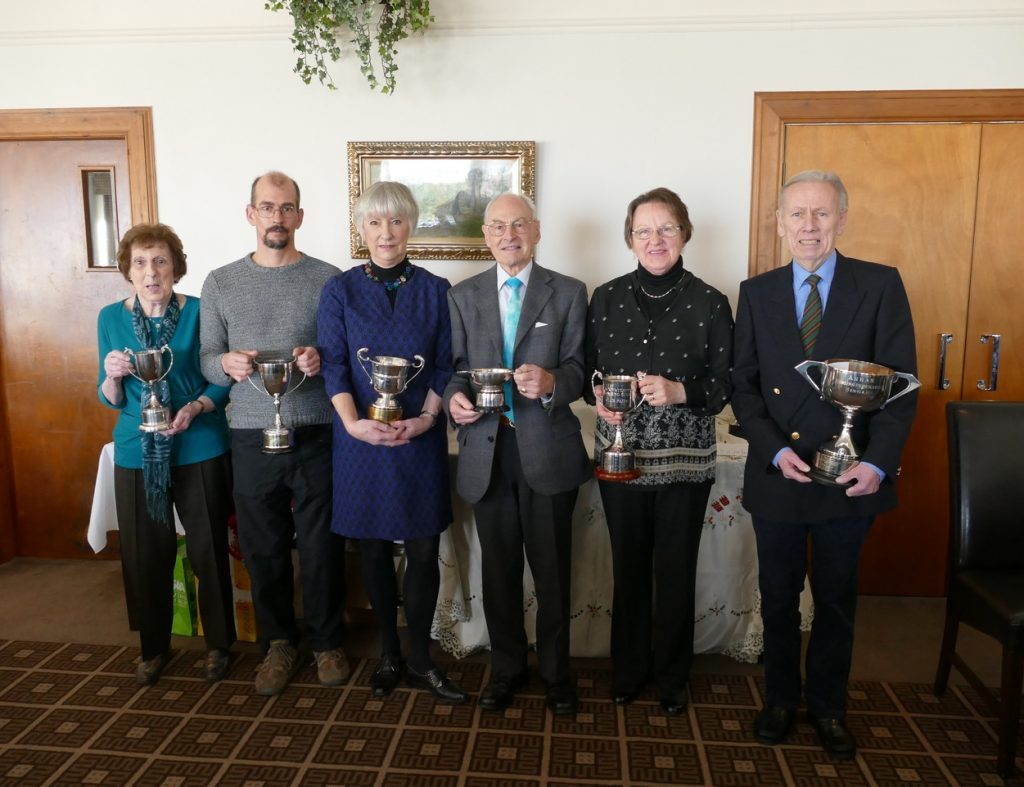 November - Trophy winners from Blackwaterfoot Bowling Club at the annual general meeting and prize giving evening