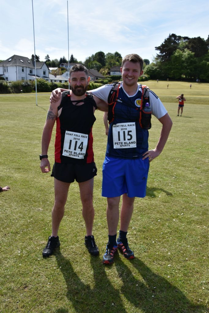 First time runner Danny Head and last years first local male Jon Smith prior to the race.