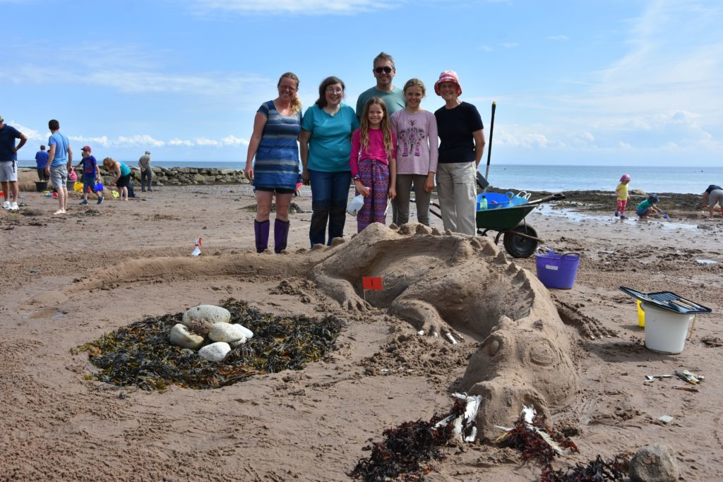 Winners in the family category were the McNamara family with their dragon creation.