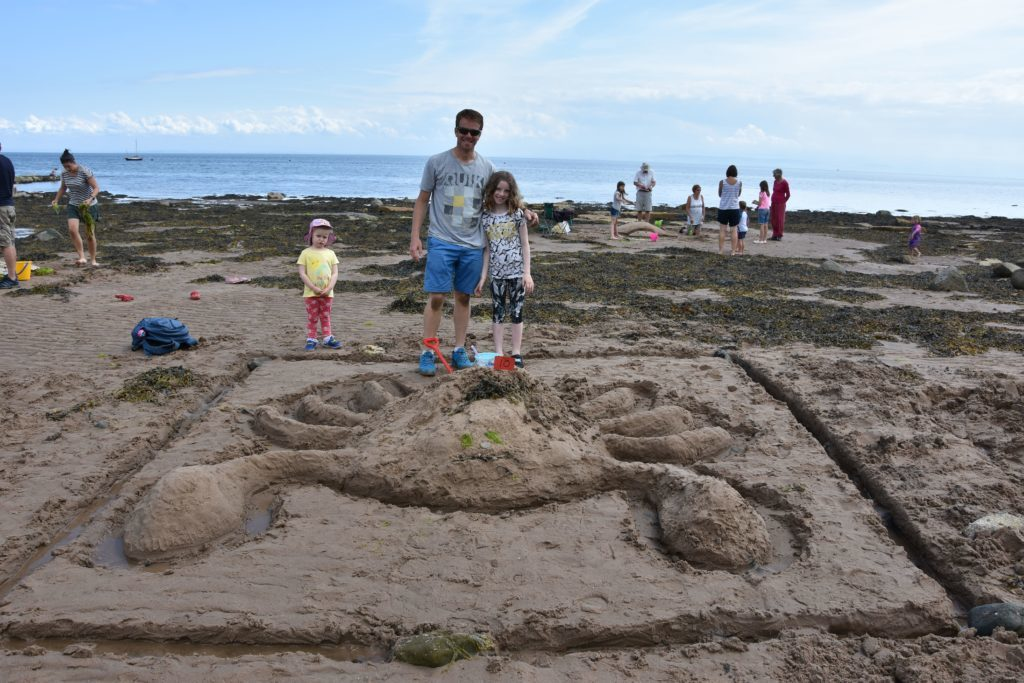 Team Crawford and their Crab Castle.