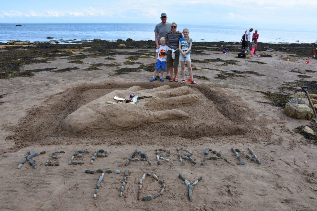 Team This is Rubbish with their Keep Arran Tidy Hand which impressed judge Tim Pomeroy and earned themselves the newly created Eco Award.