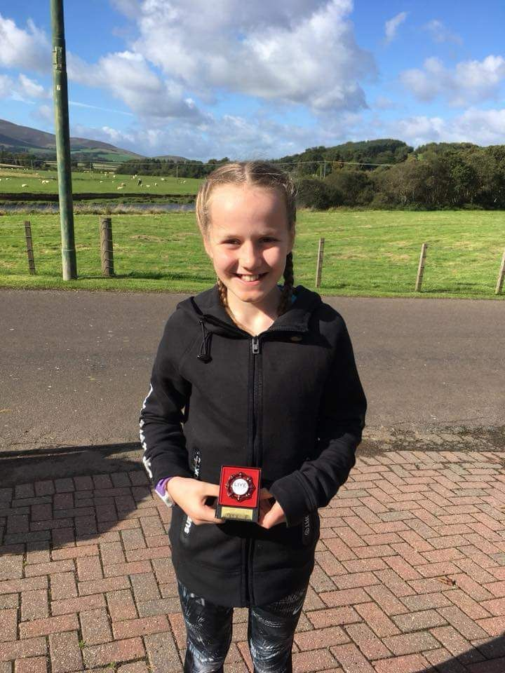 Rhea Webster finished in fourth place at the Balfron Aquathlon and third at the Galashiels Autumn Junior Triathlon.