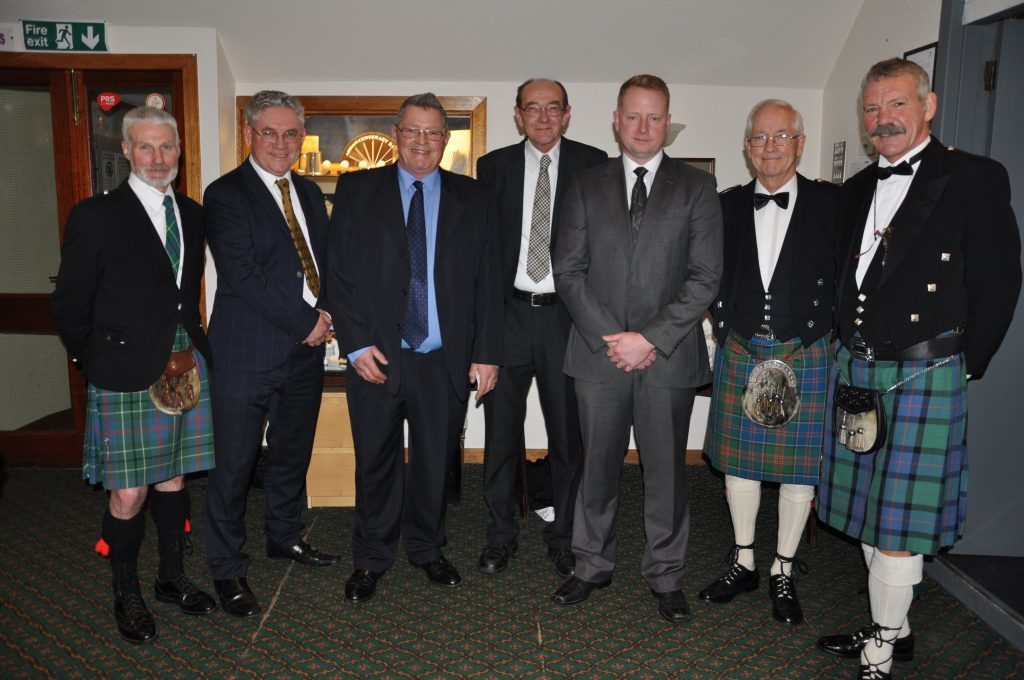 FEBRUARY - Burns night in Lamlash. New chairman Gordon Kinniburgh and the top table at the Lamlash Burns Club annual supper where speakers included Iain Currie and Arran MSP Kenneth Gibson.