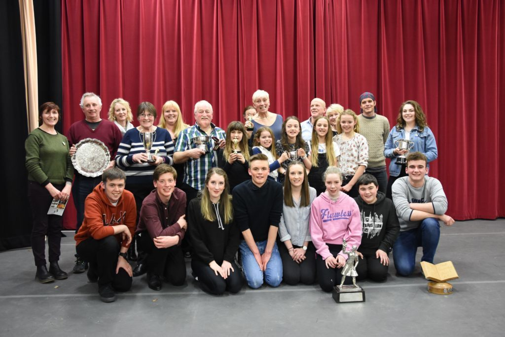 MARCH - All of the trophy winners at the 2018 One Act Drama Festival.