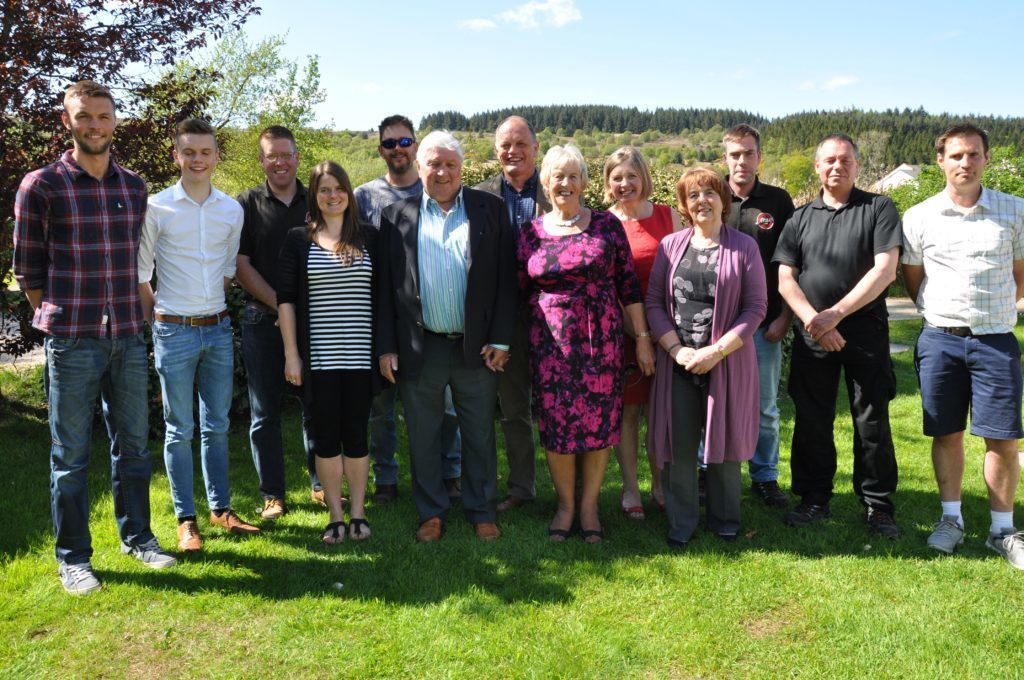 JUNE - Long established business, Arran Dairies staff, founders and owner Alastair Dobson celebrate 40 years of business with a special birthday lunch to mark the milestone.