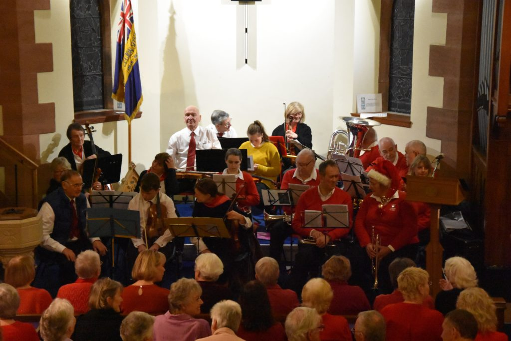 Arran Brass and string group Arco provided the music for the carol service.