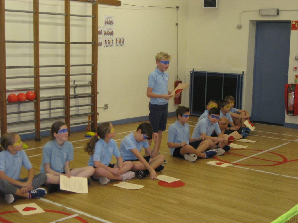 Each pupil contributed to the presentation by speaking about their understanding of heart health.