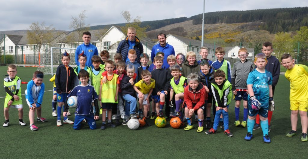 APRIL. Arran youngsters were put through their paces at the SFA Easter camp which saw more than 45 children enjoying the football activities.