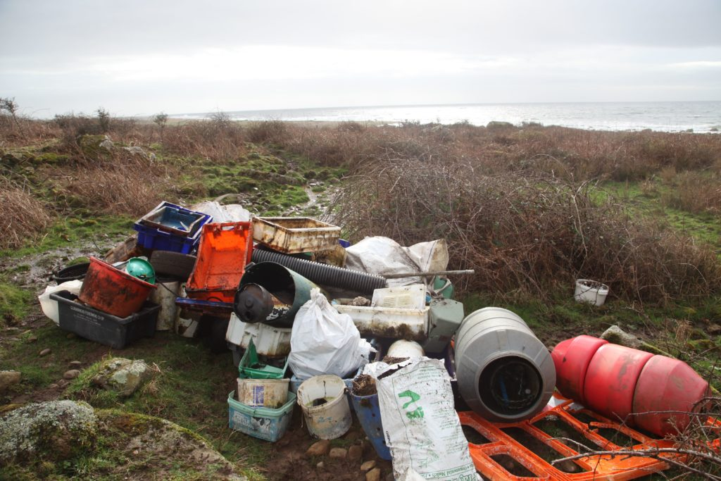 A portion of the rubbish that was collected by volunteers at Corriecravie.
