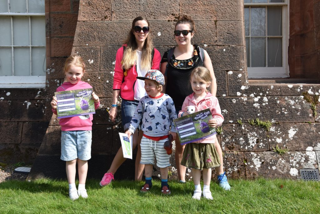 Leah Jones and Shiona McGarrigle enjoyed the sunshine with children Ryan Jones, Eve and Erin McGarrigle.