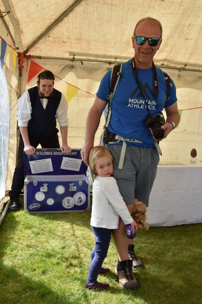 A little bit shy but happy to receive her prize was Edie with dad Andy Duke of North Yorkshire.