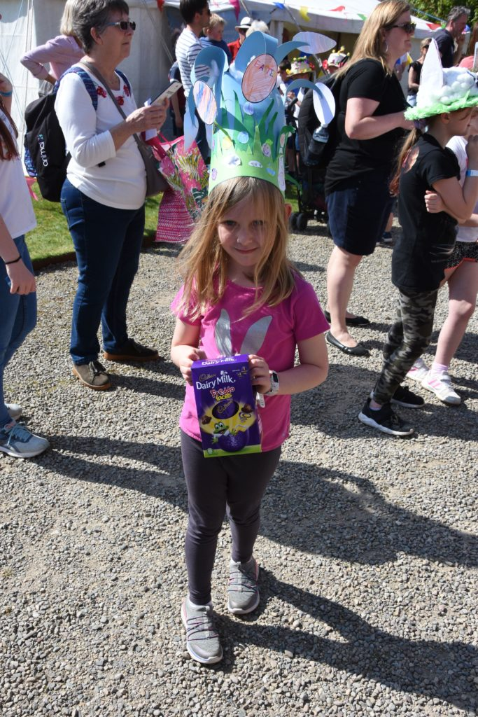 Lucy Young of Whiting Bay won a prize for her Easter bonnet in the under seven age group.