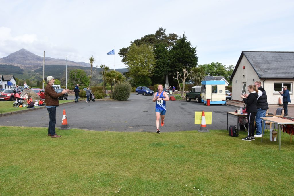 First over the line with a finishing time of 36 minutes and 13 seconds was John Speirs of Kilmarnock Harriers.