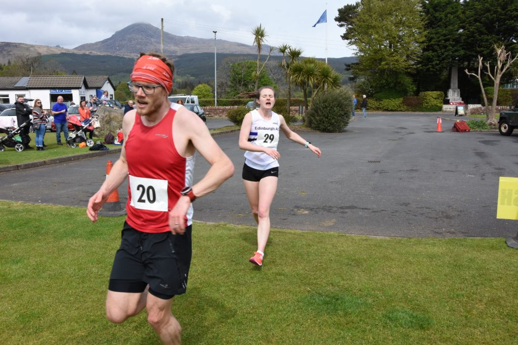 First female over the line was Elaine Eadie of Edinburgh AC who finished with a time of 40 minutes and 4 seconds.