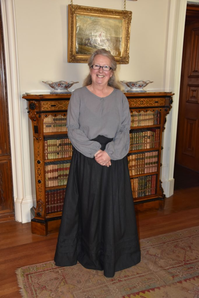 A friendly and welcoming housekeeper, Heather Johnston directed visitors to some of the attractions in the opulent drawing room.