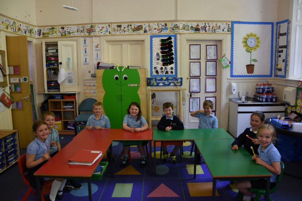 Brodick Primary P1 and P2 pupils.