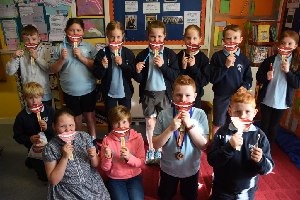 Brodick Primary P4 and P5 pupils.